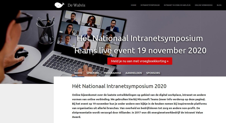 Nationaal Intranetsymposium 19 november 2020