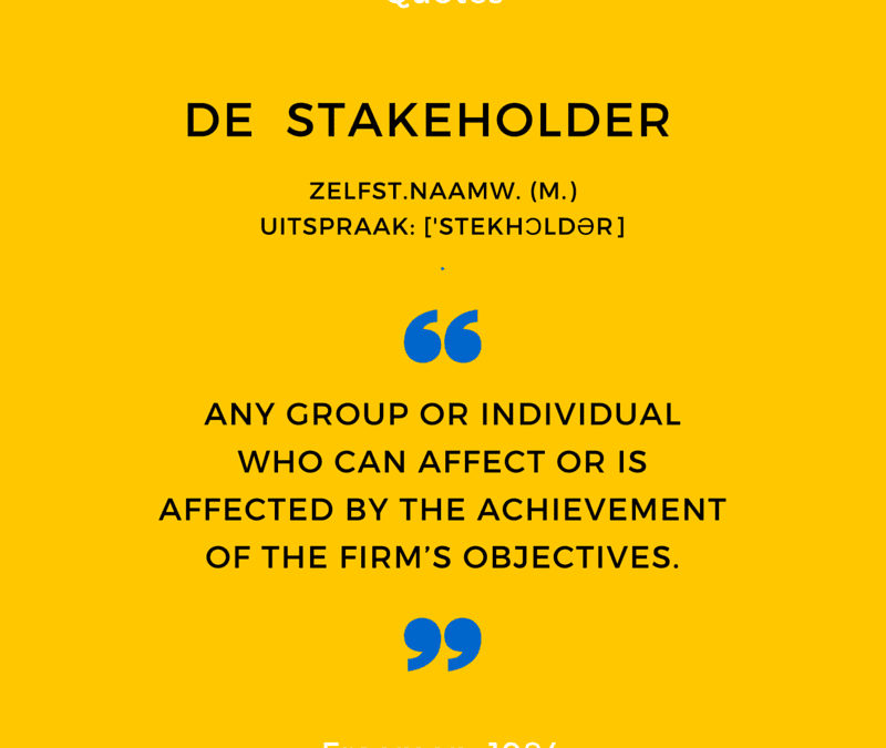Finding the balance between your stakeholders