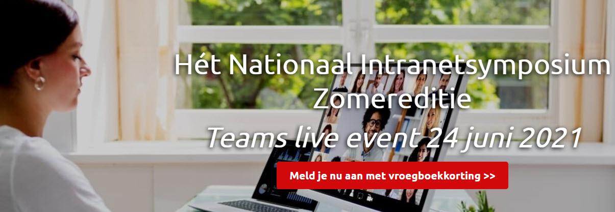 Nationaal Intranetsymposium Zomereditie 2021